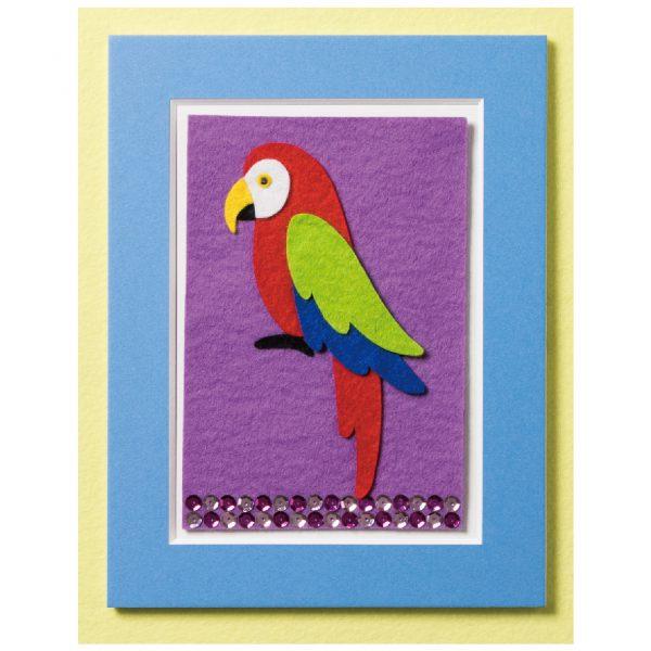 20cm角で作る フェルトピクチャ― ポップ「©鳥」(R-16)